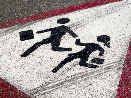 Photo for Sign on the road- Children crossing   - Royalty Free Image