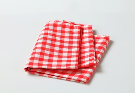 Red and white checked table linen