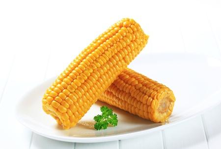 Foto für Cooked corn on the cob - Lizenzfreies Bild