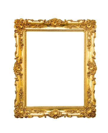 Ornate picture frame isolated on white