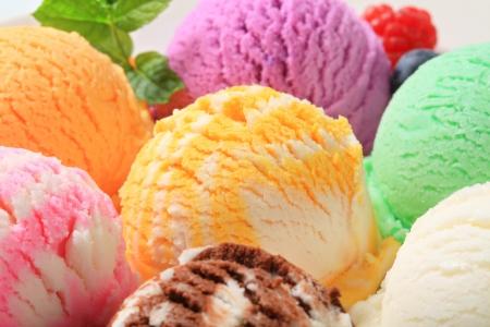 Ice cream scoops - various flavors