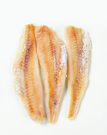 Studio shot of whitefish fillets