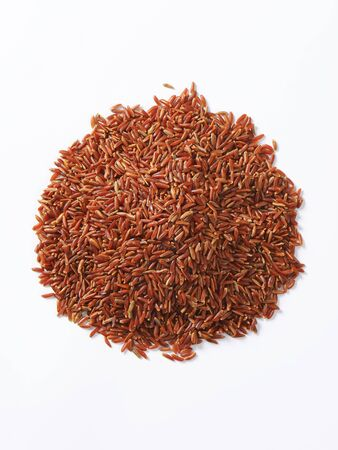 Heap of Camargue red rice (Grown organically in the wetlands of Southern France)