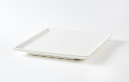 Oven proof square white ceramic platter