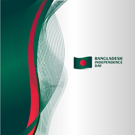 Illustration for Bangladesh Independence Day Vector Template Design Illustration - Royalty Free Image