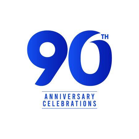 Ilustración de 90 Th Anniversary Celebrations Vector Template Design Illustration - Imagen libre de derechos