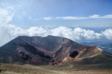 Panorama view from Etna Volcan