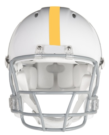 Photo for Front view of a football helmet  - Royalty Free Image
