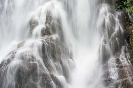 the focus on water fall in n