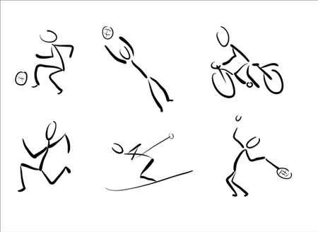 Stickmans as sport pictograms