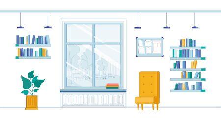Illustration pour University Corridor for Students to Rest or Study - image libre de droit