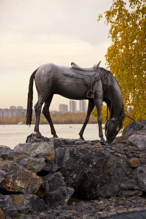 sights of the siberian city of Krasnoyarsk