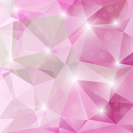 Ilustración de Polygonal monochrome abstract background with pink and purple triangles. - Imagen libre de derechos