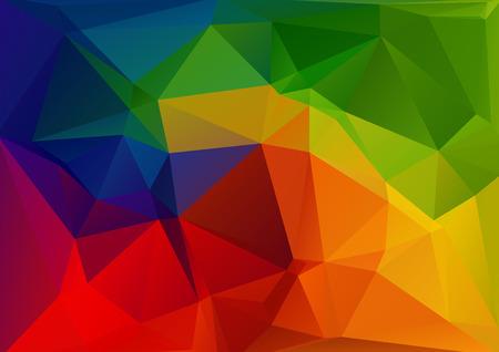 Foto de Polygonal abstract background with bright rainbow triangles. - Imagen libre de derechos
