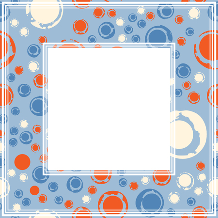 Frame With Abstract Colorful Pattern Grunge Circles And