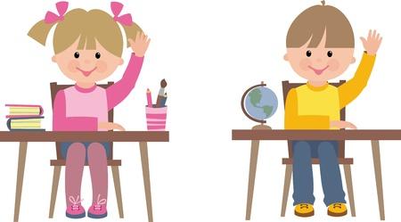 Illustration pour children in school - image libre de droit