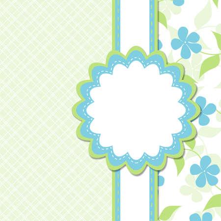 Ilustración de Template greeting card - Imagen libre de derechos