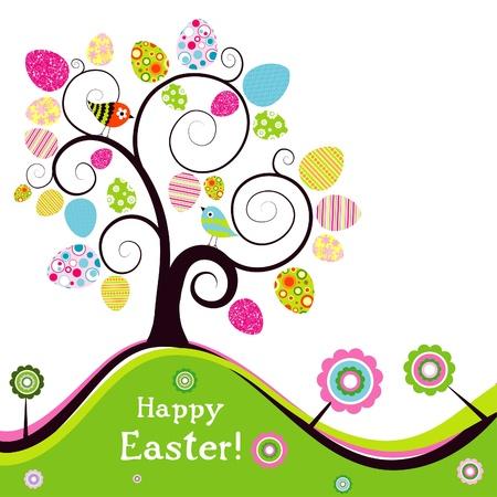 Ilustración de Template Easter greeting card, vector illustration - Imagen libre de derechos