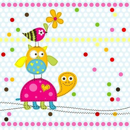 Ilustración de Template greeting card, vector illustration - Imagen libre de derechos