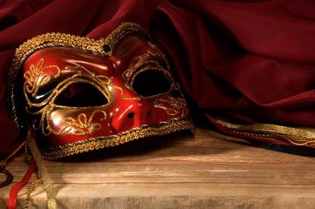 Still life with Venetian carnival mask.