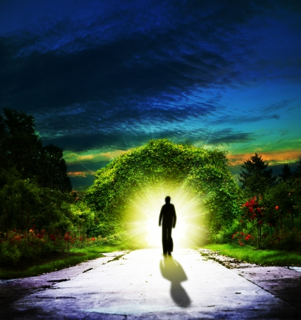 Walking to Eden  Abstract spiritual backgrounds