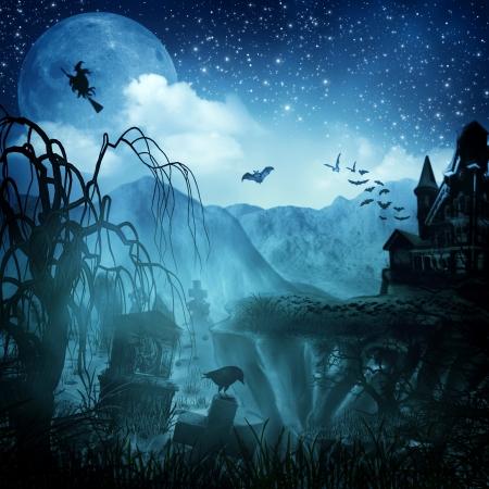 Halloween Night in Blue