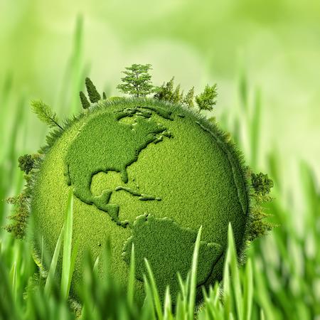 Photo pour Green Planet, abstract environmental backgrounds - image libre de droit