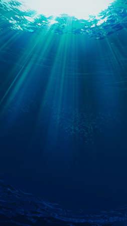 Photo pour Deep blue sea. Underwater backgrounds for your design - image libre de droit