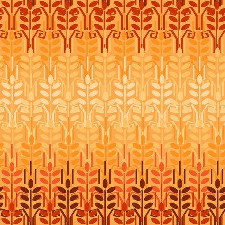 Wheat seamless pattern. Agriculture background