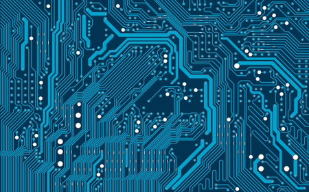 Illustration pour Vector blue electronic circuit board background - image libre de droit