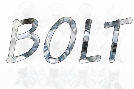 Word bolt on white background