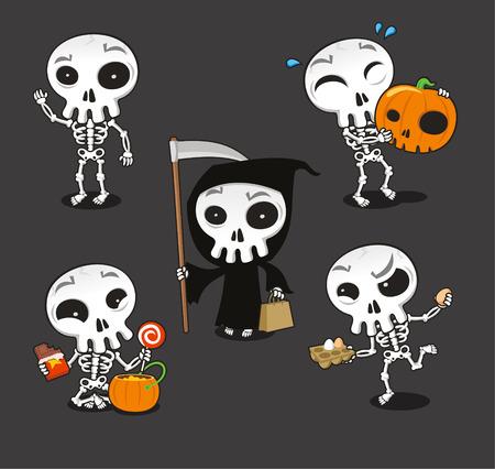 Halloween Skeleton cartoon illustration