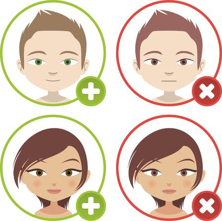 Head and Shoulder add People Avatar Profile vector illustration.