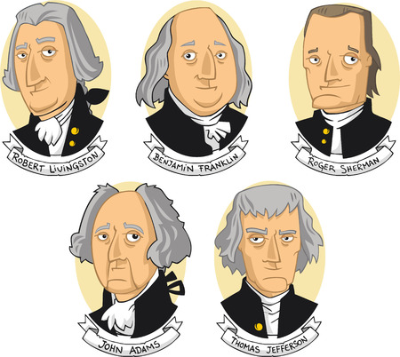 United states of america founding fathers cartoon collection