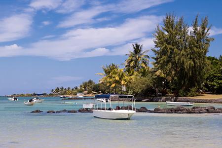Beautiful beach north of Mauritius