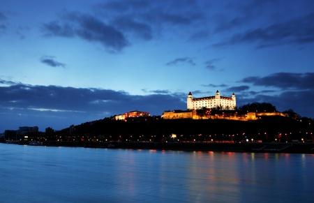 Photo for Bratislava castle and bridge - Slovakia, - Royalty Free Image