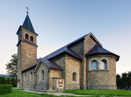 Nice Catholic Church in eastern Europe - village Babin - Orava - Slovakia