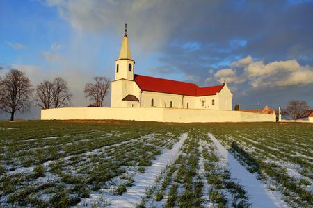 Slovak Church in village Pac