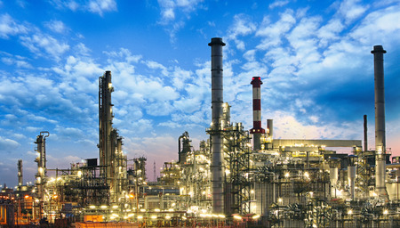 Photo for Oil and gas industry - refinery, factory, petrochemical plant - Royalty Free Image