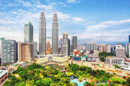 Scenery view of Petronas Twin Tower located in Kuala Lumpur