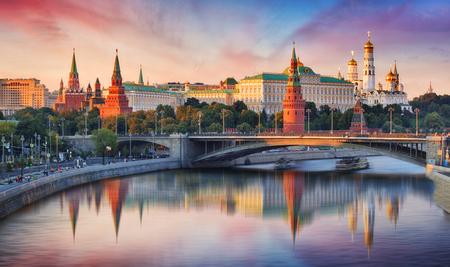 Photo pour Moscow, Kremlin and Moskva River, Russia - image libre de droit
