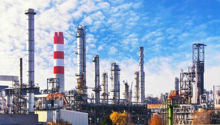 Foto für Oil and gas petrochemical plant, Industry factory - Lizenzfreies Bild