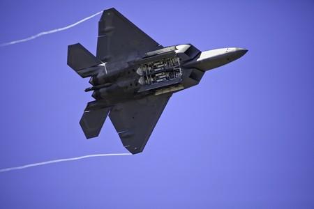 F-22 Raptort with bomb bay doors open