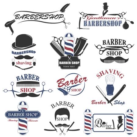 Illustration for Barbershop tool collection, set of barbershop instruments - Royalty Free Image