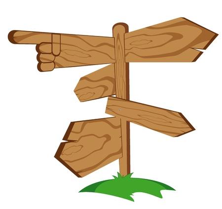 wooden sign  vector illustration