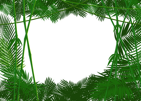 Illustration pour jungle forest backgound for you text or simple image. vector illustration - image libre de droit