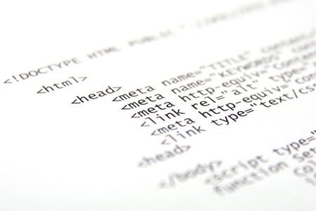 Printed internet html code - technology background