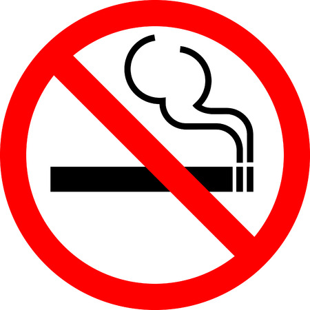 Vector sign No smoking