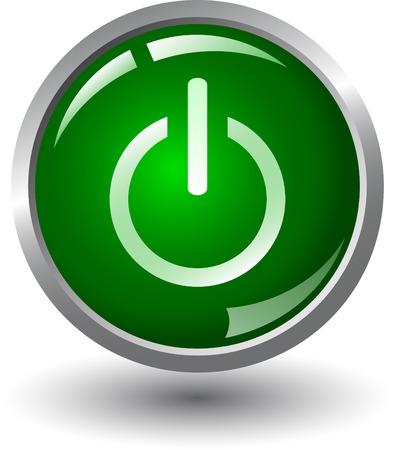 Illustration pour Start - power on - web button, - image libre de droit