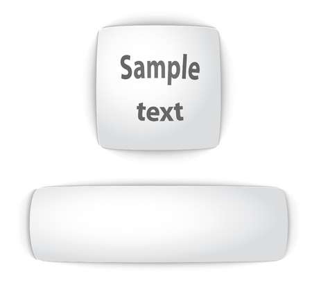 Sample blank convex web buttons. Vector illustration.